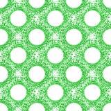 Teste padrão verde das bolhas sem emenda das bolas Fotos de Stock