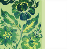 Teste padrão verde das flores Imagem de Stock