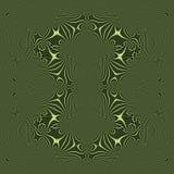 Teste padrão verde decorativo abstrato sem emenda Fotografia de Stock Royalty Free