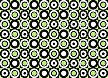 Teste padrão verde do círculo. Vetor Imagens de Stock