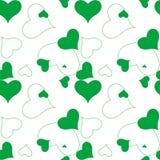 Teste padrão verde do coração Foto de Stock