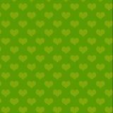 Teste padrão verde do coração Ilustração Stock