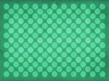 Teste padrão verde dos círculos do vintage Imagens de Stock Royalty Free