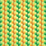 Teste padrão verde e alaranjado das folhas Fotos de Stock