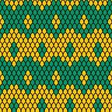 Teste padrão verde e amarelo das escalas Imagens de Stock