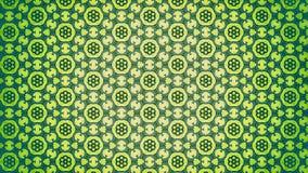 Teste padrão verde e amarelo do papel de parede da flor ilustração do vetor