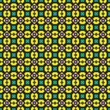 Teste padrão verde e amarelo ornamentado Foto de Stock Royalty Free