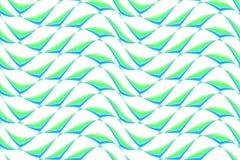 Teste padrão verde e azul ondulado Imagem de Stock