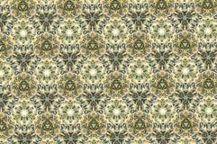 Teste padrão verde e branco do sumário do cacto Imagem de Stock Royalty Free
