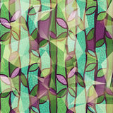 Teste padrão verde e roxo natural da mola Fotos de Stock