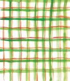 Teste padrão verde e vermelho da manta Fotografia de Stock Royalty Free