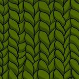 Teste padrão verde feito malha sem emenda Fotografia de Stock Royalty Free