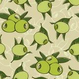 Teste padrão verde-oliva sem emenda Imagens de Stock Royalty Free