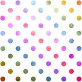 Teste padrão verde vermelho de Teal Blue Purple Polka Dot ilustração do vetor