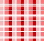 Teste padrão verific vermelho Foto de Stock Royalty Free