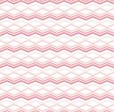 Teste padrão vermelho com ziguezague Imagens de Stock Royalty Free