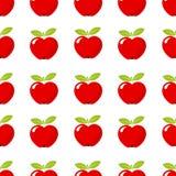 Teste padrão vermelho da maçã Fotografia de Stock Royalty Free