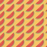 Teste padrão vermelho da melancia Fotos de Stock Royalty Free