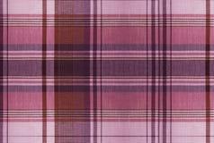 Teste padrão vermelho da tartã - tabela da roupa da manta Foto de Stock Royalty Free
