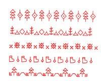 teste padrão vermelho das figuras Fotografia de Stock