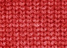 Teste padrão vermelho de lãs da camisola Fotos de Stock