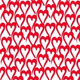 Teste padrão vermelho do coração Fotografia de Stock Royalty Free