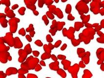 Teste padrão vermelho do coração Imagem de Stock Royalty Free