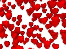 Teste padrão vermelho do coração Fotos de Stock Royalty Free