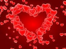 Teste padrão vermelho do coração Foto de Stock Royalty Free