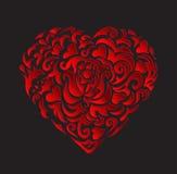 Teste padrão vermelho do coração Imagens de Stock