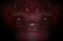 Teste padrão vermelho do fractal no fundo traseiro Textura do fractal da fantasia Twirl vermelho de Digitas art rendição 3d Image ilustração do vetor