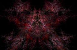 Teste padrão vermelho do fractal no fundo traseiro Textura do fractal da fantasia Twirl vermelho de Digitas art rendição 3d Image ilustração royalty free