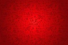 Teste padrão vermelho do fundo de Rússia com ícones Foto de Stock Royalty Free
