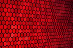 Teste padrão vermelho do hexágono Fotografia de Stock Royalty Free