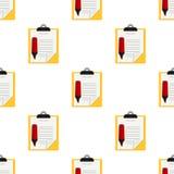 Teste padrão vermelho do highlighter da prancheta amarela Fotos de Stock