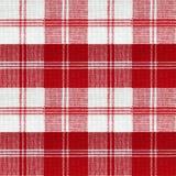 Teste padrão vermelho do piquenique do vintage Foto de Stock