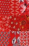 Teste padrão vermelho do quilt Imagens de Stock Royalty Free