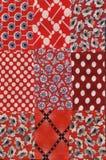 Teste padrão vermelho do quilt Fotos de Stock Royalty Free