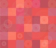 Teste padrão vermelho do quilt Imagem de Stock Royalty Free