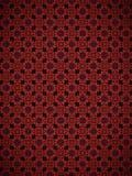 Teste padrão vermelho do tabuleiro de damas Fotografia de Stock Royalty Free