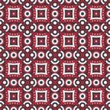 Teste padrão vermelho dos círculos Fotografia de Stock Royalty Free