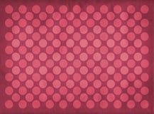 Teste padrão vermelho dos círculos do vintage Imagens de Stock