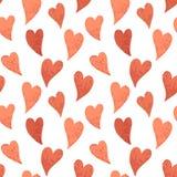 Teste padrão vermelho dos corações Imagens de Stock