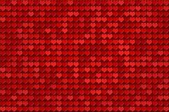 Teste padrão vermelho dos corações Fotografia de Stock Royalty Free