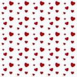 Teste padrão vermelho dos corações Imagens de Stock Royalty Free