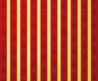 Teste padrão vermelho dourado do encanto Imagem de Stock Royalty Free