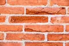 Teste padrão vermelho e alaranjado da parede de tijolos Fotos de Stock Royalty Free