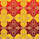 Teste padrão vermelho e amarelo Imagens de Stock Royalty Free