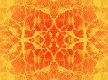 Teste padrão vermelho e amarelo do caleidoscópio Imagens de Stock Royalty Free