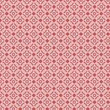 Teste padrão vermelho e branco da repetição do damasco do vintage Fotos de Stock Royalty Free